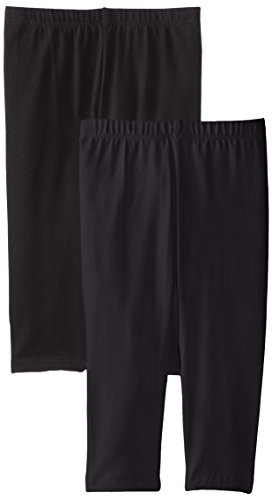 The Children's Place Little Girls' Cropped Legging (Pack of 2), Black, Small (5/6)