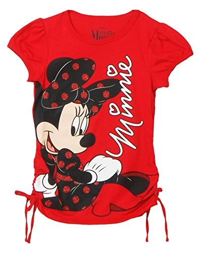 Disney Girls Youth Minnie Mouse Sitting Tee Small