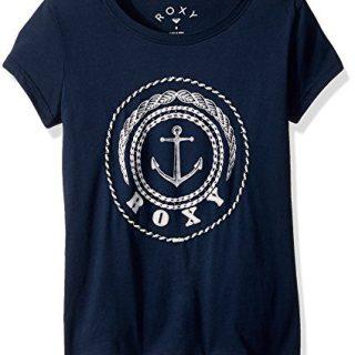 Roxy Big Girls' Surf Club T-Shirt, Dress Blues, 14/XL