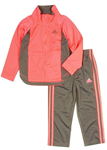 fb82602fb adidas Girls Tricot Zip Jacket and Pant Set