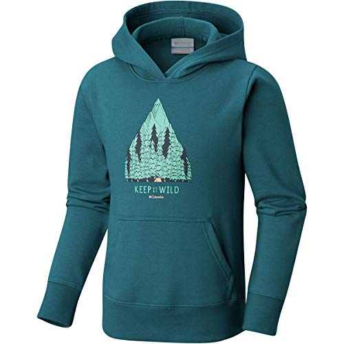Columbia Take A Hike Hoodie - Girls' Emerald, M
