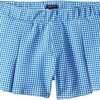 Tommy Hilfiger Kids Girl's Pleated Pull-On Shorts (Little Kids/Big Kids) Regatta Blue 10