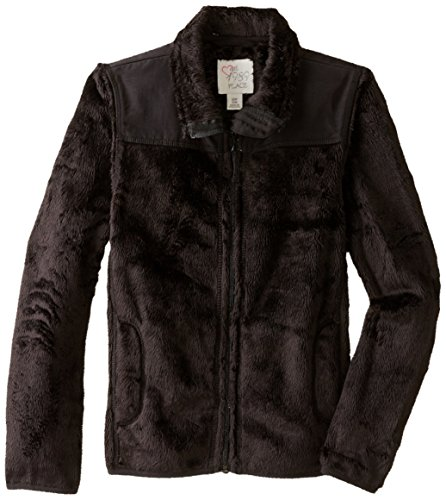 The Children's Place Little Girls' Solid Favorite Jacket, Black, Small/5-6