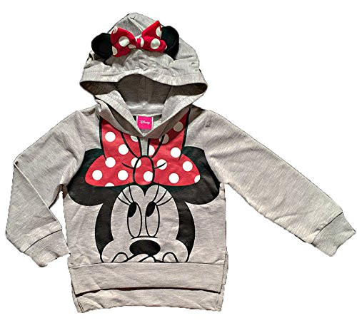 Disney Minnie Mouse Little Girls Lightweight Hoodie Shirt (2T)
