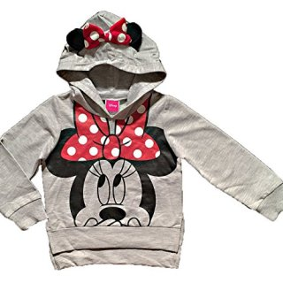 Disney Minnie Mouse Little Girls Lightweight Hoodie Shirt (2T)