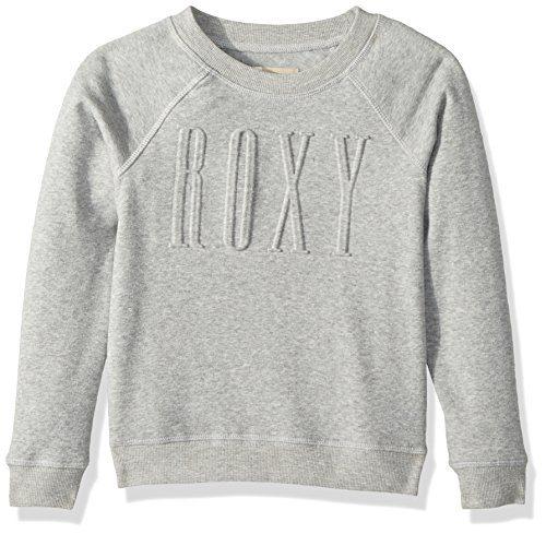 Roxy Big Girls' Wind Blew Pullover Sweatshirt, Heritage Heather, 10/M