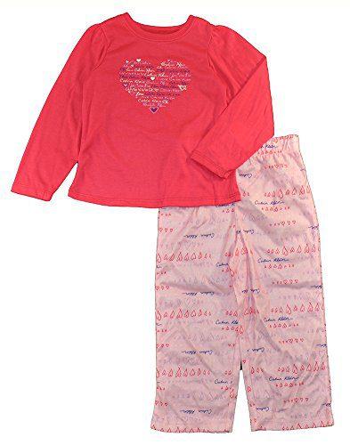 Calvin Klein Little Girls' 2 Piece Heart Pajama Set