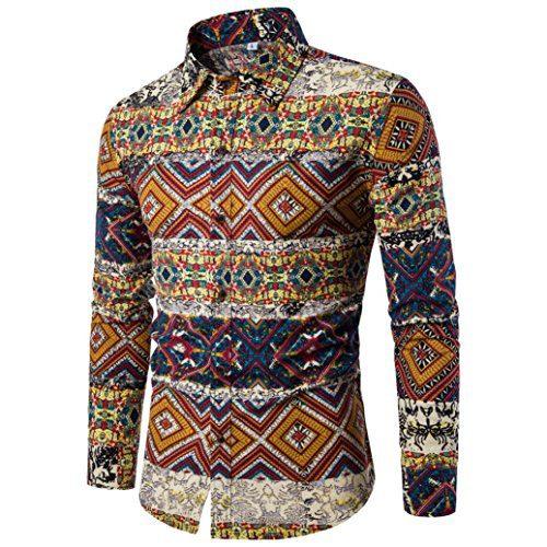 Longay Men's Shirt Plus Size Slim Fit Long Sleeve Casual Button Shirts Formal Top Blouse (XXL)