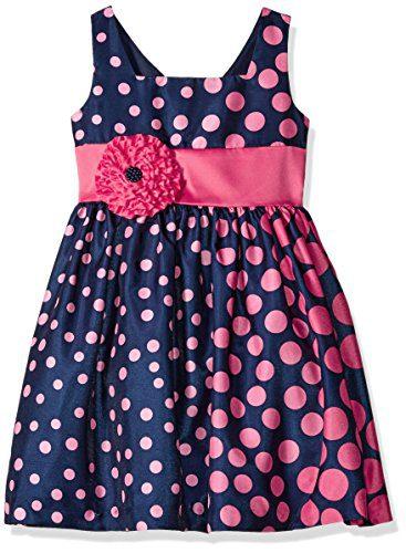 Bonnie Jean Toddler Girls', Navy/Coral, 4T