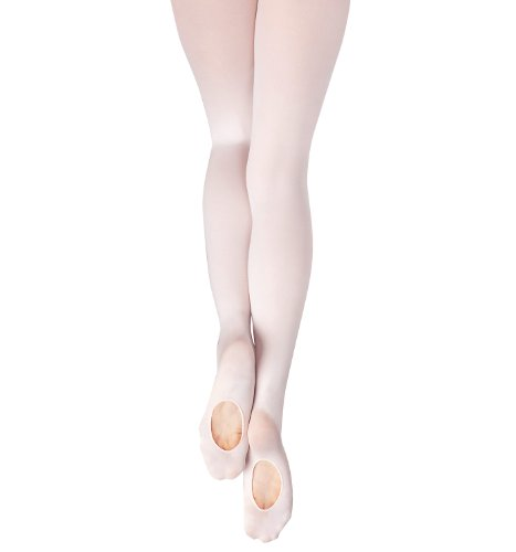 New Capezio Girls Pink Dance Transition Tights 8-12