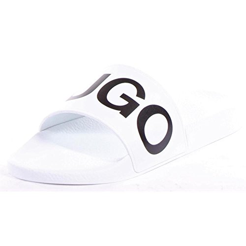 Hugo Boss Men's Timeout-RB White Slides Sandals Shoes Sz: 8