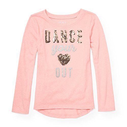 The Children's Place Big Girls' Long Sleeve T-Shirt 2, Pink Sea Salt, XS (4)