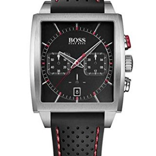 HUGO BOSS BLACK Mens Rectangular Chronograph Watch w/ Date