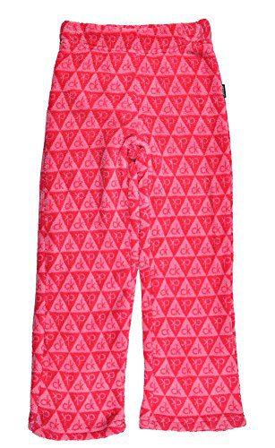 Calvin Klein Little Girls' Logo Plush Sleep Pant, Pink, 5/6