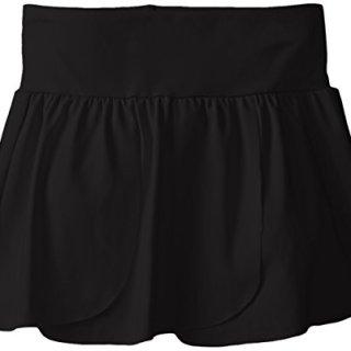 CapezioBig Girls' Petal Skirt, Black, Medium