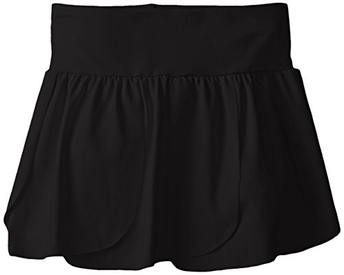 CapezioBig Girls' Petal Skirt, Black, Medium