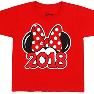 Disney Youth Exclusive 2018 Minnie Mouse Ears T-Shirt Red Medium
