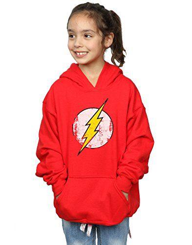 DC Comics Girls Flash Distressed Logo Hoodie