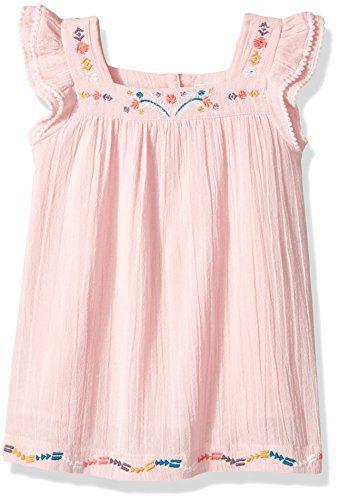 Roxy Little Girls' Tropic's Culture Solid Dress, Rose Quartz, 6X