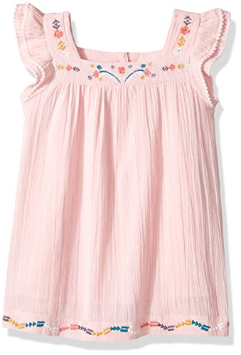 Roxy Little Girls' Tropic's Culture Solid Dress, Rose Quartz, 6X