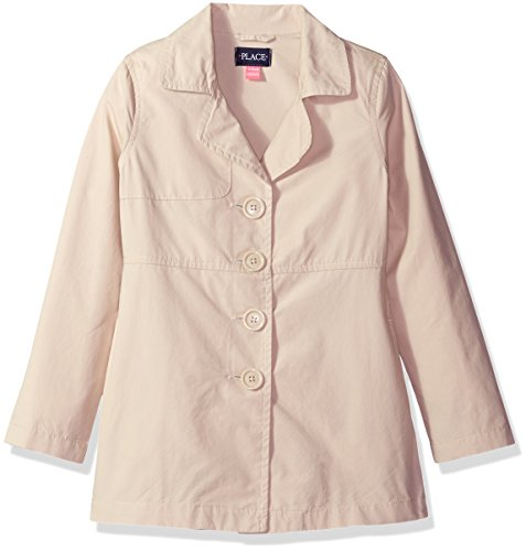 The Children's Place Big Girls' Trench Coat, Tan, M (7/8)