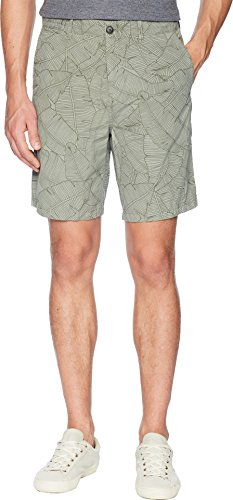 BOSS Orange Men's Allover Palm Print Cotton Chino Short, Sage, 48