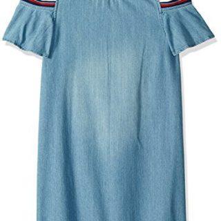 Tommy Hilfiger Big Girls' Flowy Denim Dress, Chelsea Wash, Medium (8/10)