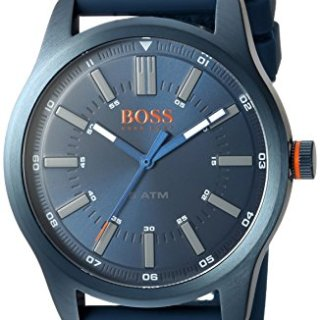 HUGO BOSS Men's 'DUBLIN' Quartz Stainless Steel and Rubber Casual Watch, Color:Blue