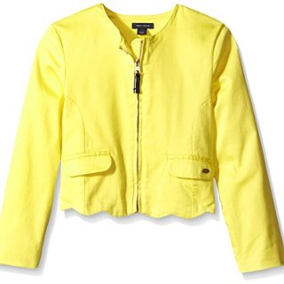 Tommy Hilfiger Big Girls' Retro Scallop Jacket, Sun Haze, 10