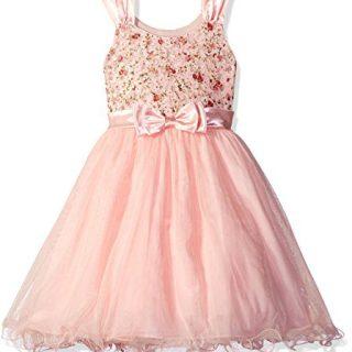 Bonnie Jean Big Girls Sleeveless Party Dress, Pink, 8