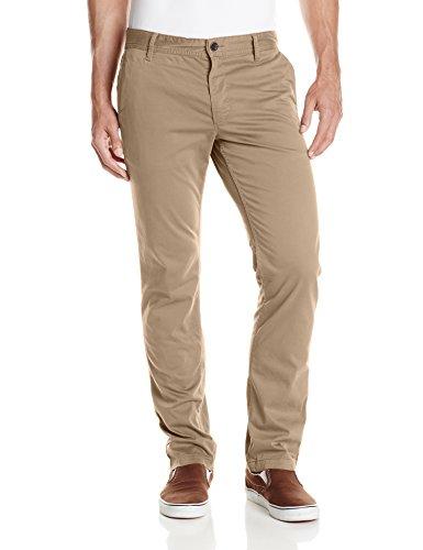 BOSS Orange Men's Shino-Regular1-D Stretch Satin Cotton Trouser, Light/Pastel Brown, 32