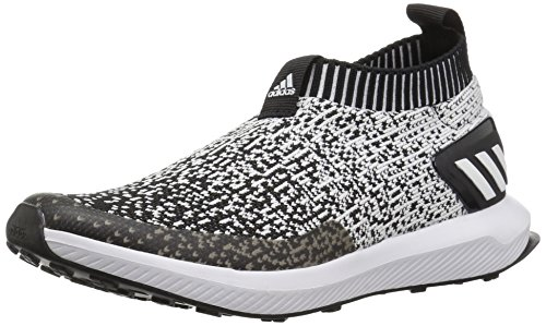 adidas Unisex-Kids RapidaRun Laceless Running Shoe, Black/White/Black, 4 M US Big Kid