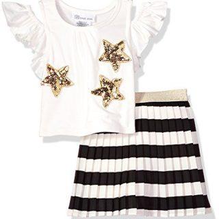 Bonnie Jean Little Girls' Top and Skirt Set, Stars, 5