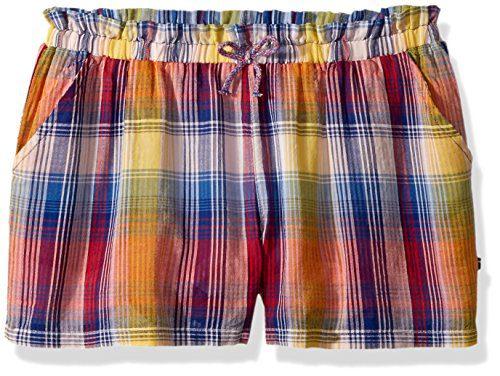 Tommy Hilfiger Big Girls' Fashion Short, Mazarine Blue Plaid, Large