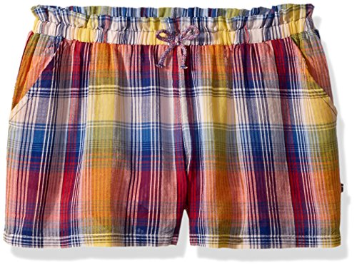 Tommy Hilfiger Big Girls' Fashion Short, Mazarine Blue Plaid, Large