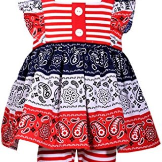 Bonnie Jean Girls American Patriotc 4th Of July Shorts Set (0m-6x) (5)