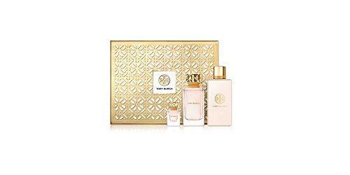 Tory Burch 3 PC Luxury Perfume Gift Set: 3.4 oz Eau De Parfum Spray + .24 oz Eau De Parfum Splash + 7.6 oz Body Lotion Bottle