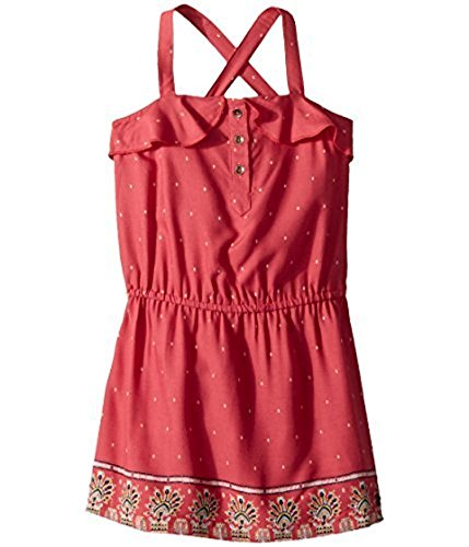 Roxy Little Girls' Everlasting Happiness Sleeveless Dress, Holly Berry Perfect Wave Border, 5