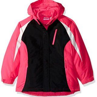 The Children's Place Big Girls' Solid 3-in-1 Jacket, Hot Gossip Neon, S (5/6)