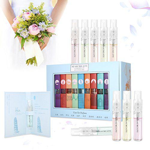 9 Pcs Mini Perfume Gift Set for Women, LuckyFine 9 Scent City Fragrances Kit Spray Perfume Gift for Girls