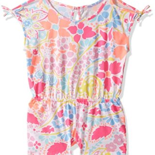 The Children's Place Big Girls' Sleeveless Romper, Coral Rocket, M (7/8)