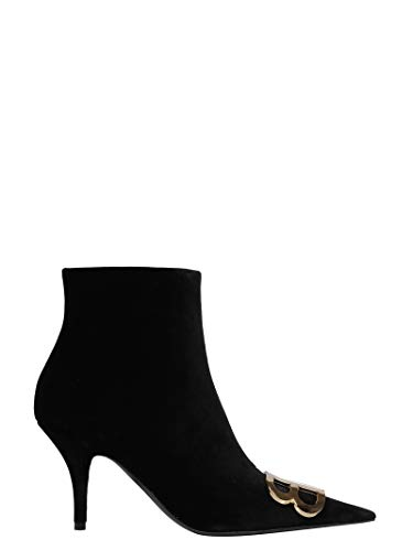 Balenciaga Women's Black Fabric Ankle Boots