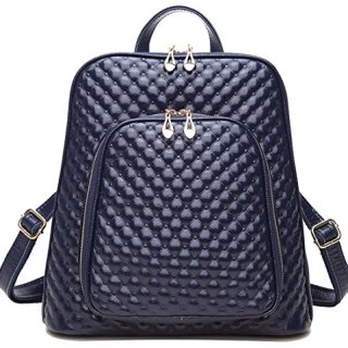 Coolcy New Fashion Women's Genuine Leather Backpack Casual Shoulder Bag