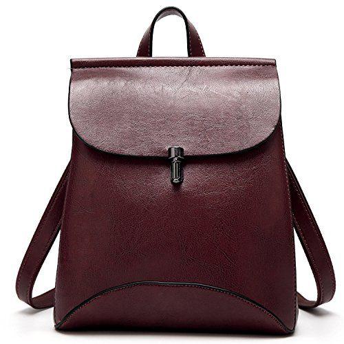 SiMYEER Women's Pu Leather Backpack Purse Ladies Casual Shoulder Bag