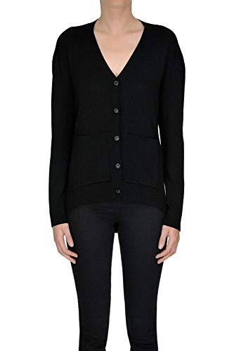 Balenciaga Women's Black Wool Cardigan