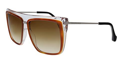 Balenciaga Orange Square Sunglasses for Womens