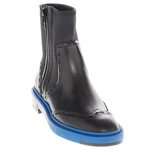 Balenciaga Women's Staple-Trim Grained Chelsea Boot Leather Black