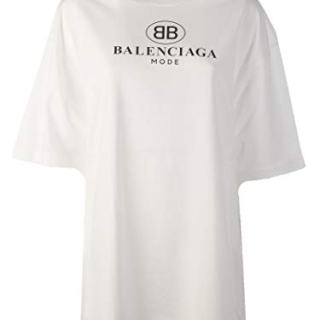 Balenciaga Women's White Cotton T-Shirt