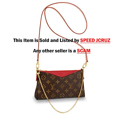 Pallas Style Women Wallet Cluth Crossbody Tote Fashion Leather Bag by SJC (RED)