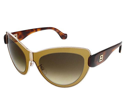 Balenciaga Women's Cat Eye Gold-Tone and Brown Sunglasses